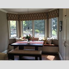 Beautiful Ikat Roman Shades Liven Up A Kitchen Nook