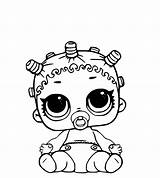 Lol Coloring Dolls Pages Baby Surprise sketch template