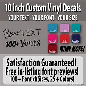 10 in custom vinyl lettering text vinyl wall decal window With 10 inch vinyl letters