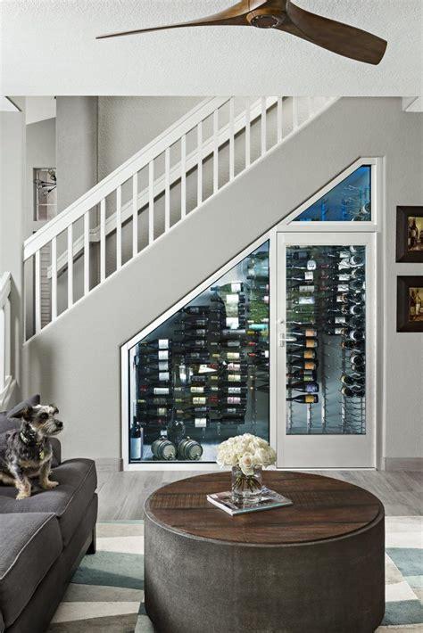 creative ways  utilize space  install  wine cellar stair storage wine cellars