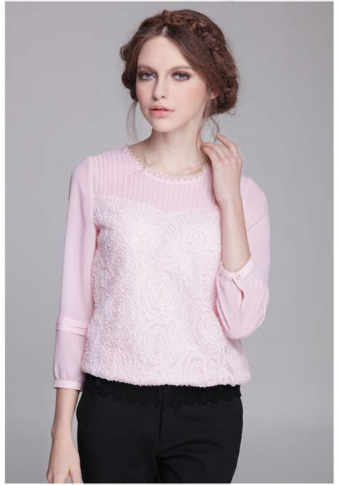 evening blouse formal evening puff sleeve lace blouses in