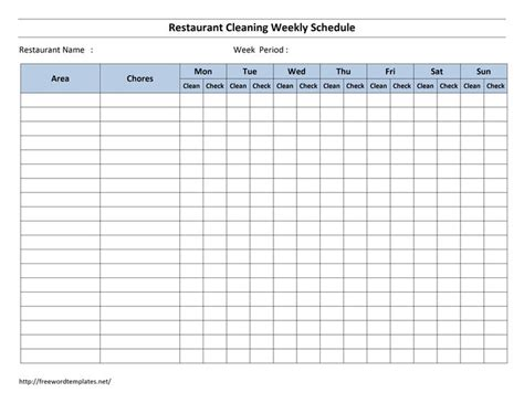 cleaning schedule forms excel format  payroll