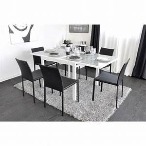 Table Carrée Blanche : extend table extensible blanche 90 180cm achat vente table salle a manger pas cher couleur ~ Teatrodelosmanantiales.com Idées de Décoration