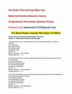 Test 20bank 20human 20anatomy 20physiology 201st 20edition