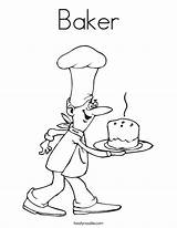 Baker Coloring Worksheet Job Bakery Baking Cooking Congratulations Bread Grow Twistynoodle Want Outline Drawing Chef Printable Cook Tracing Bakes Noodles sketch template