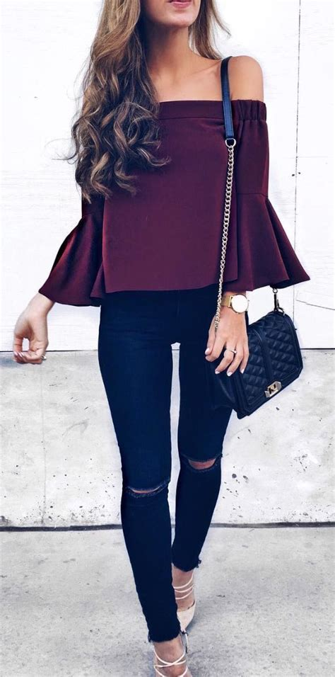 Best 25+ Burgundy outfit ideas on Pinterest | Fall outfits Fall skirt outfits and Burgundy ...