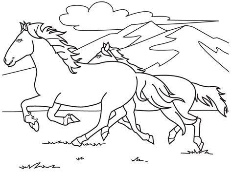 Coloring Kuda by Mewarnai Gambar Kuda Mewarnai Gambar