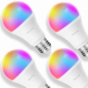 Smart Led Lampe : smart led lampe gl hbirne teckin wlan birne e27 rgb bulb mit mehreren farben wifi gl hbirne ~ Watch28wear.com Haus und Dekorationen