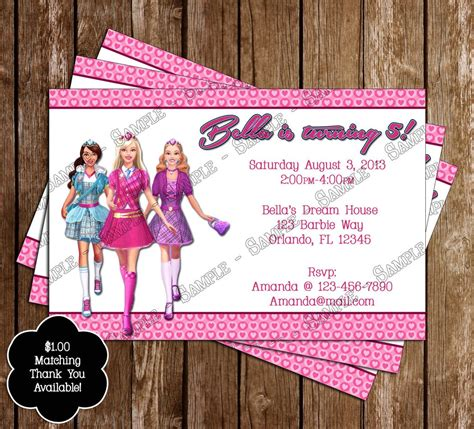 concept designs barbie birthday party