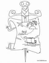 Coloring Pirate Treasure Map Pages Maps Chest Visit Printable sketch template