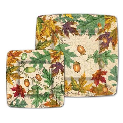 fall leaves dinner paper plates