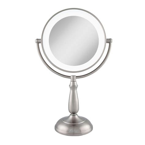 lighted vanity mirror zadro 11 in x 17 25 in led lighted dimmable touch vanity