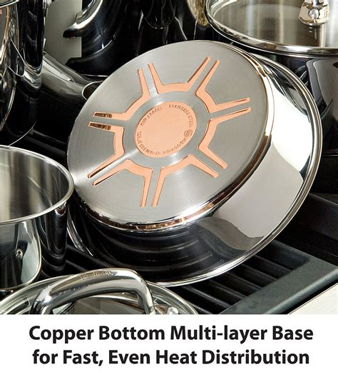 stainless steel cookware  copper core