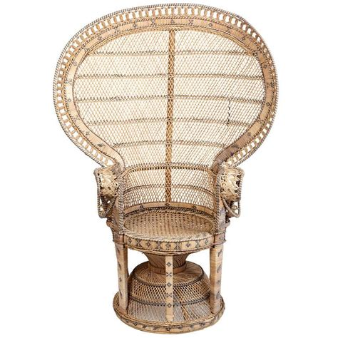 wingback chairs wicker throne chair at 1stdibs