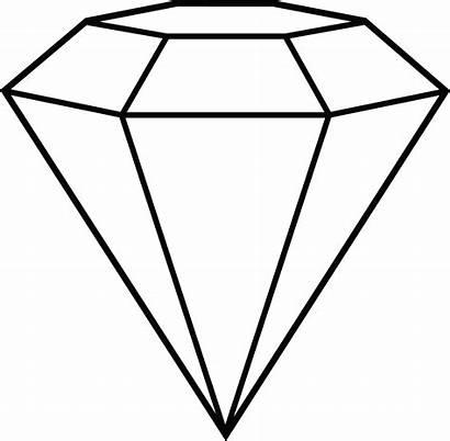 Clipart Diamond Draw Drawing Clip Diamonds Library