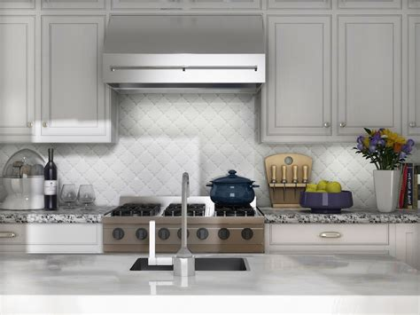 arabesque tile backsplash beveled arabesque tile homesfeed