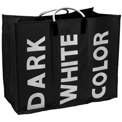 panier a linge 3 compartiments panier 224 linge sale avec 3 compartiments noir ebay