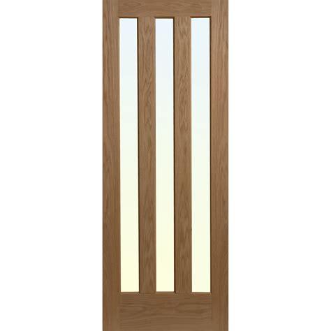 solid wood bathroom alnwick glazed door oak veneer 3 glass panels