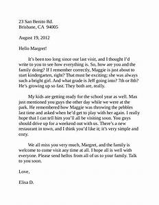 Friendly Letter Template 7th Grade