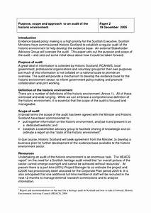 Document sample scope of work template the project for Internal audit scope template