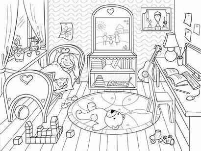 Coloring Che Bedroom Theme Bambini Della Childhood