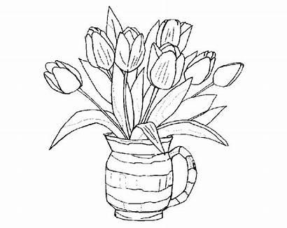 Coloring Bouquet Flowers Pages Printable Coloringtop