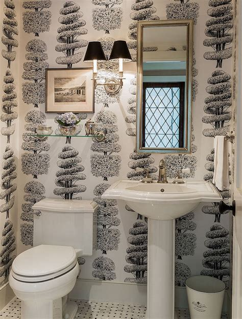 trend  powder rooms  black  white