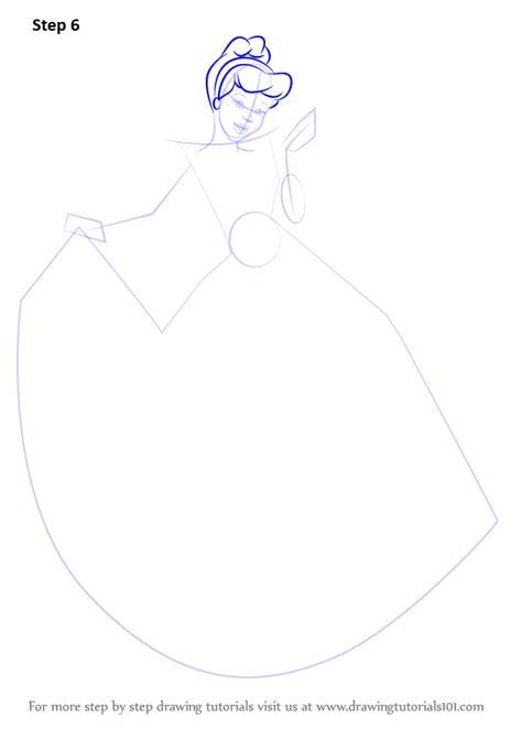 learn   draw princess cinderella cinderella step