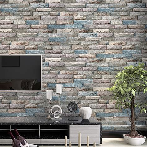 home decor wall paper roll  stereo embossed marble stone