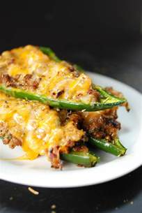 Ground Beef Stuffed Poblano Peppers