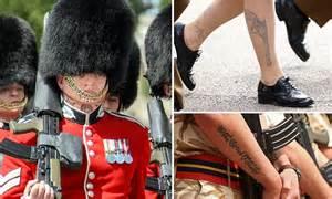 british army lifts ban  hand  neck tattoos