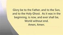Glory Be To The Father (Lyrics) - Catholicism Fan Art ...