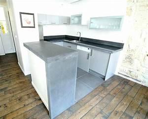 Faire Un Plan De Travail En Béton Ciré : faire plan de travail cuisine b ton cir maison et mobilier ~ Farleysfitness.com Idées de Décoration