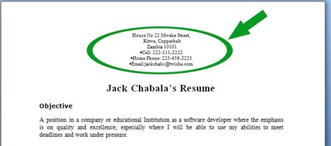 contact information for a resume three must read tips for your resume to stand out in 2016