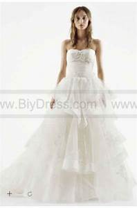 New white by vera wang strapless tulle wedding dress for White by vera wang wedding dress