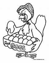 Chicken Chook Coloring Template sketch template