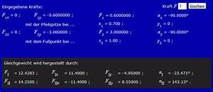 Seilkräfte Berechnen Mechanik : allgemeines ebenes kraftsystem ~ Themetempest.com Abrechnung