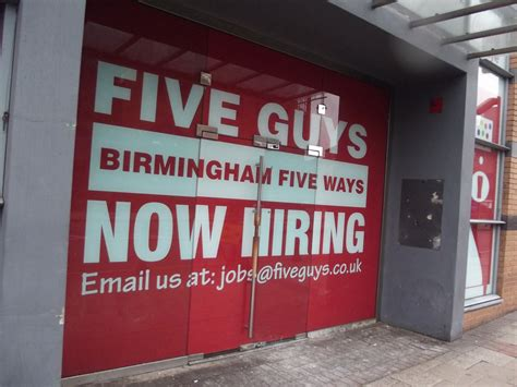 Five Guys Birmingham Five Ways  Seen On Broad Street At