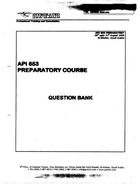 API 653 Question Bank