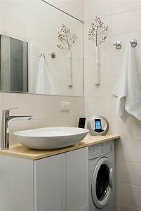 cache machine a laver et seche linge 24 idees astucieuses With meuble pour cacher machine a laver
