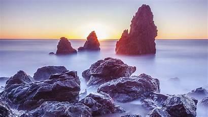 4k Resolution Wallpapers Landscape Desktop Beach Rocks