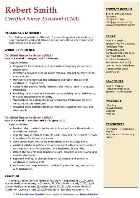 Certified Assistant Resume by Certified Assistant Resume Sles Qwikresume