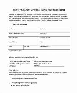 8 fitness assessment form samples free sample example With personal training assessment template
