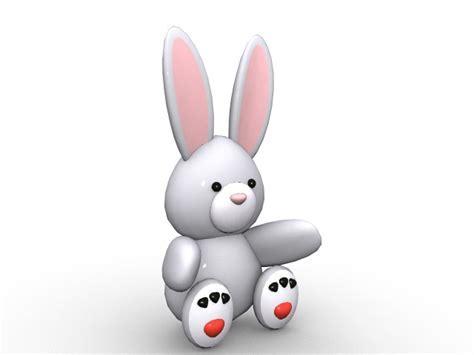 Cartoon baby bunny rabbit 3d model 3ds Max files free