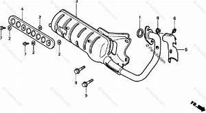 Honda Scooter 1988 Oem Parts Diagram For Muffler