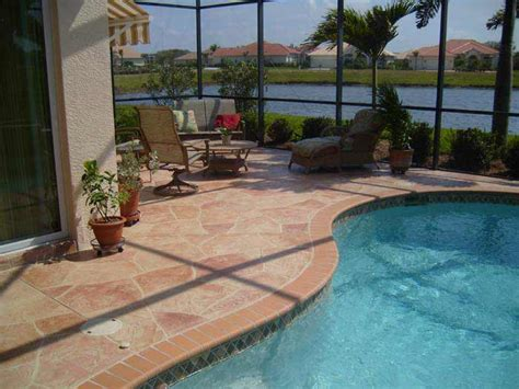 resurface pool deck with tile concrete resurfacing is the best way to replace you
