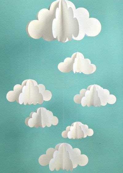 diy cloud l paper cloud mobile clouds mobile rooms juxtapost