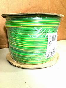 10mm Earth Cable 100m Metre Roll Electrical Gas Water Bonding 6491x Green Yellow