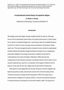 Pdf  A Motivational Control Theory Of Cognitive Fatigue