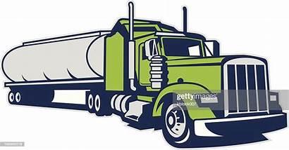 Vector Tanker Truck Milk Semi Illustration Trailer